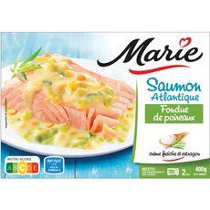 MARIE Saumon fondue de poireaux 2 portions 400g