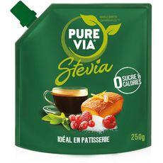 PURE VIA Stévia édulcorant en poudre 0 sucre 0 calorie 250g