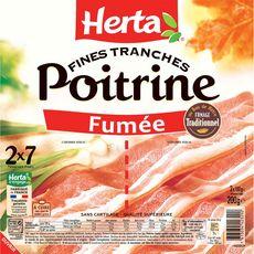 HERTA Tranches de Poitrine fumée 14 tranches 2x100g