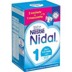 NESTLE Nidal lait 1er âge en poudre dès la naissance 2x350g