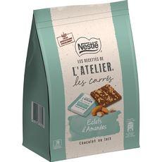 Nestlé NESTLE L'Atelier Carrés de chocolat au lait de dégustation éclats amandes