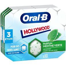 Hollywood HOLLYWOOD Oral-B Chewing-gum menthe verte au fluor sans sucres