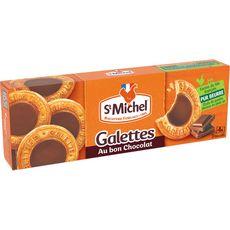 ST MICHEL Galettes nappées de chocolat, sachets fraîcheur 4x3 biscuits 121g