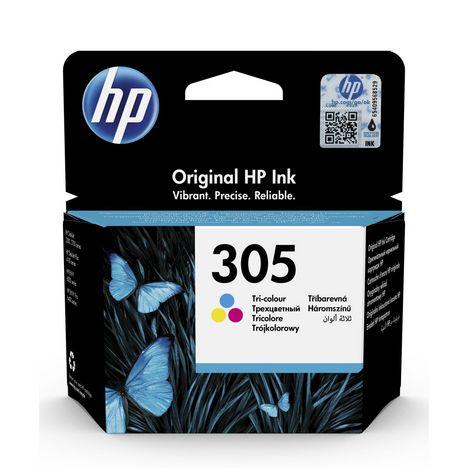 HP Cartouche d'Encre HP 305 Trois Couleurs Authentique (3YM60AE)