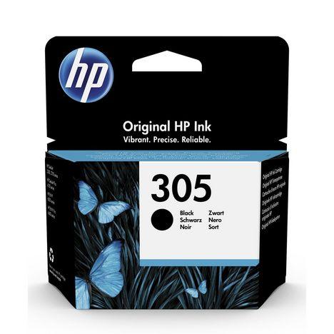 HP Cartouche d'Encre HP 305 Noire Authentique (3YM61AE)