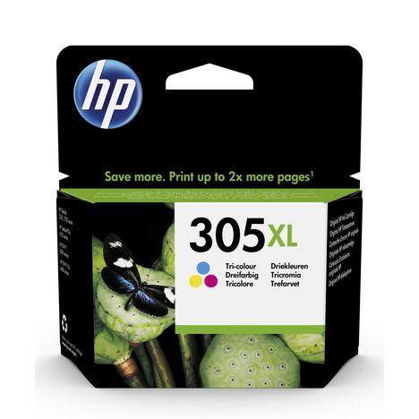 HP Cartouche d'Encre HP 305XL Trois Couleurs grande capacité Authentique (3YM63AE)