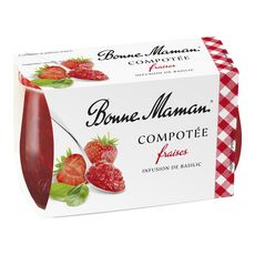 Bonne Maman Compotée de fraises infusion de basilic 2x130g