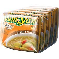 YUM YUM Soupe de nouilles asiatiques instantanées saveur curry 5x60g