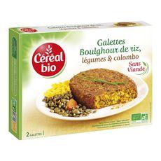 Céréal Bio CEREAL BIO Galettes boulghour de riz, légumes et colombo