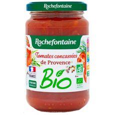 ROCHEFONTAINE Tomates concassées de Provence bio, en bocal 350g