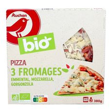 AUCHAN BIO Pizza 3 fromages bio 380g