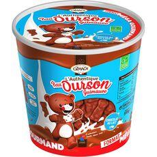CEMOI Cemoi Tubo Oursons en Guimauves enrobées de chocolat au lait 595g 595g