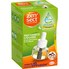 ZENSECT Recharge liquide pour diffuseur électrique 45 nuits 1 recharge