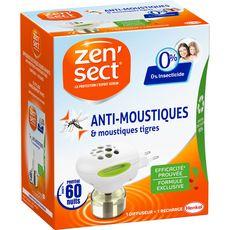 ZENSECT Diffuseur électrique avec recharge anti moustiques 60 nuits 1 diffuseur