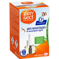 ZENSECT Recharge électrique anti moustiques et moustique tigre 60 nuits 1 recharge