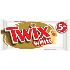 TWIX White barres chocolat blanc au biscuit recouvert de caramel 5x2 barres 230g