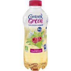 CONTREX Green boisson bio aromatisée framboise et infusion de maté 75cl
