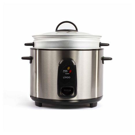 LIVOO Cuiseur à riz et vapeur DOC192 - Argent