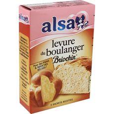 ALSA Levure du boulanger Briochin 5 sachets 28g