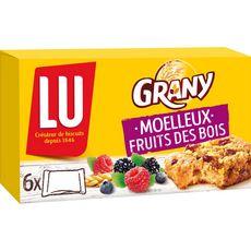 GRANY Biscuits moelleux muesli et fruits des bois sachets individuels 6 barres 192g