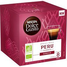 DOLCE GUSTO Capsules de café bio espresso du Péru Cajamarca 12 capsules 84g