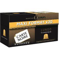 CARTE NOIRE Capsules de café lungo compatibles Nespresso 30 capsules 170g