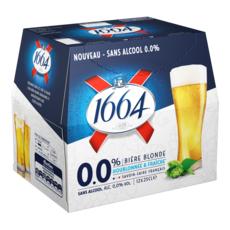 1664 Bière blonde sans alcool bouteilles 12x25cl