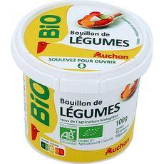 AUCHAN BIO Bouillon de légumes déshydraté bio 100g