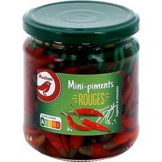 AUCHAN Mini-piments rouges au vinaigre bocal 130g
