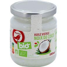 AUCHAN BIO Huile vierge de noix de coco bio 180ml