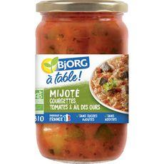 BJORG A Table! Mijoté courgettes tomates ail des ours bio sans sucres ajoutés 630g