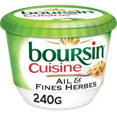 BOURSIN Cuisine Crème culinaire à l'ail et aux fines herbes 240g