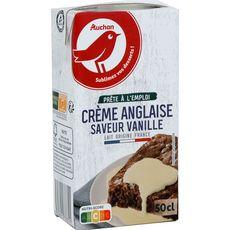 AUCHAN Crème anglaise à la vanille UHT 50cl