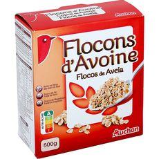 AUCHAN Flocons d'avoine 500g