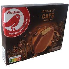 Auchan Bâtonnets glacés double café x4 -350g
