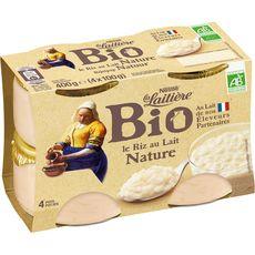 LA LAITIERE Riz au lait bio 4x100g