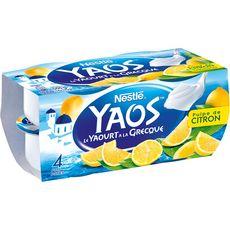 YAOS Yaourt à la grecque citron 4x125g
