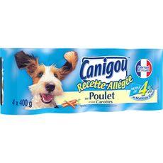 CANIGOU Boîtes de pâtée allégée aux viandes blanches pour chien 4x400g