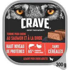 CRAVE Terrine chiens adultes saumon et dinde sans céréales 300g