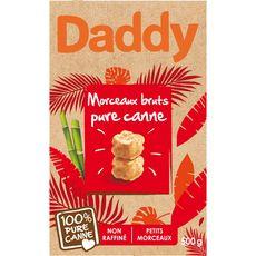 DADDY Sucre roux pure canne en morceaux bruts 500g