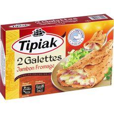 TIPIAK Galette de sarrasin au jambon et fromage 2 pièces 250g