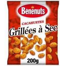 BENENUTS Cacahuètes grillées à sec dorées au four 200g