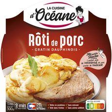 LA CUISINE D'OCEANE Rôti de porc et gratin dauphinois 300g