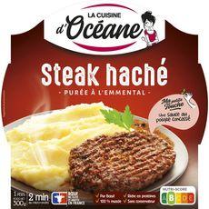 LA CUISINE D'OCEANE Purée à l'emmental et steak haché pur bœuf français 1 personne 300g