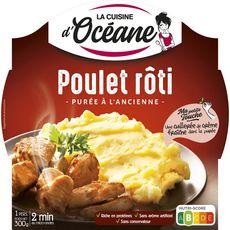 La Cuisine d'Océane LA CUISINE D'OCEANE Poulet rôti et purée à l'ancienne barquette 2min au micro-ondes