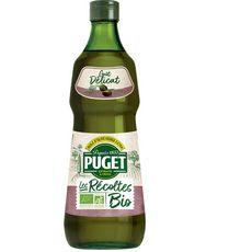 PUGET Les Récoltes Bio Huile d'olive vierge extra goût délicat 75cl