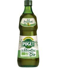 PUGET Les Récoltes Bio Huile d'olive vierge extra goût puissant 75cl