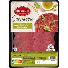 BIGARD Carpaccio à l'huile d'olive et basilic 2 personnes 190g