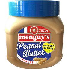 MENGUY'S Beurre de cacahuètes crunchy sans huile palme 454g