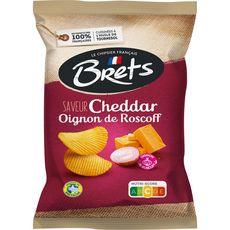 BRETS Chips ondulées saveur cheddar et oignon de Roscoff 125g